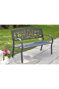 Decorative Metal Bench - Fairy Woodland