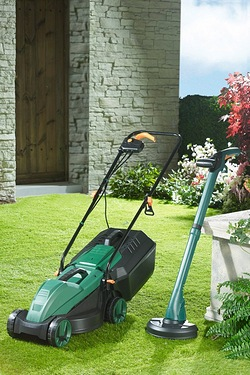 Q Garden 1000W Mower With FREE 250W Trimmer