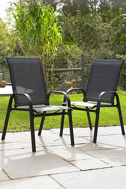 Fiji Stacking Pair Of Chairs