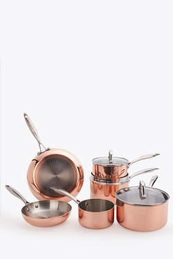 6-Piece Copper Pan Set