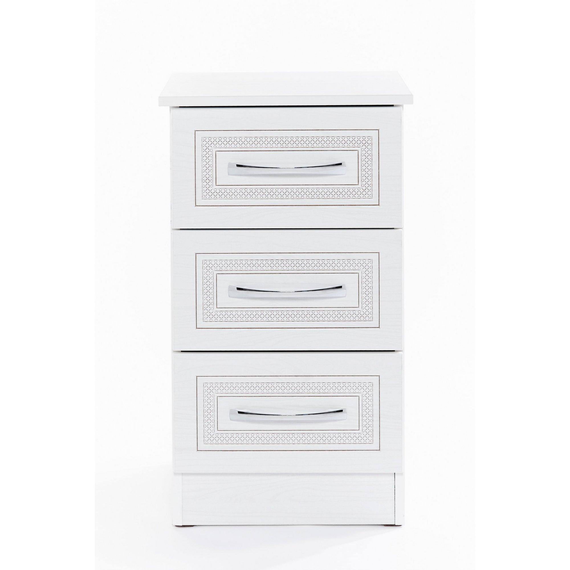 Image of Dorset 3 Drawer Bedside Cabinet - Ready Assembled