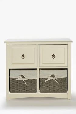 Salisbury 2 Drawer 2 Basket Unit
