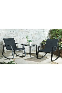3-Piece Outdoor Rocking Chair Set