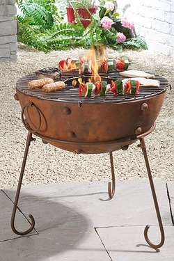 Rustic Round Firebowl
