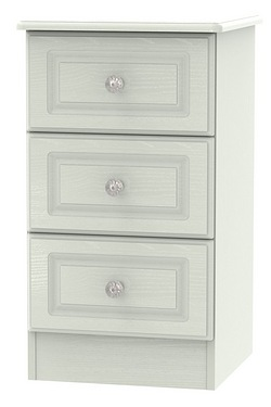Chateaux 3 Drawer Bedside Cabinet