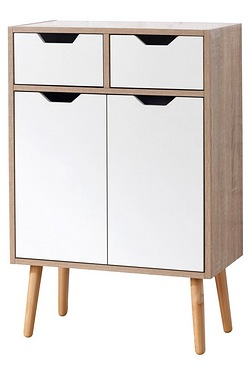 Sotckholm 2 Drawer 2 Door Cabinet