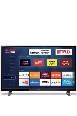 "Sharp 32"" Smart HD Ready Freeview LED TV"