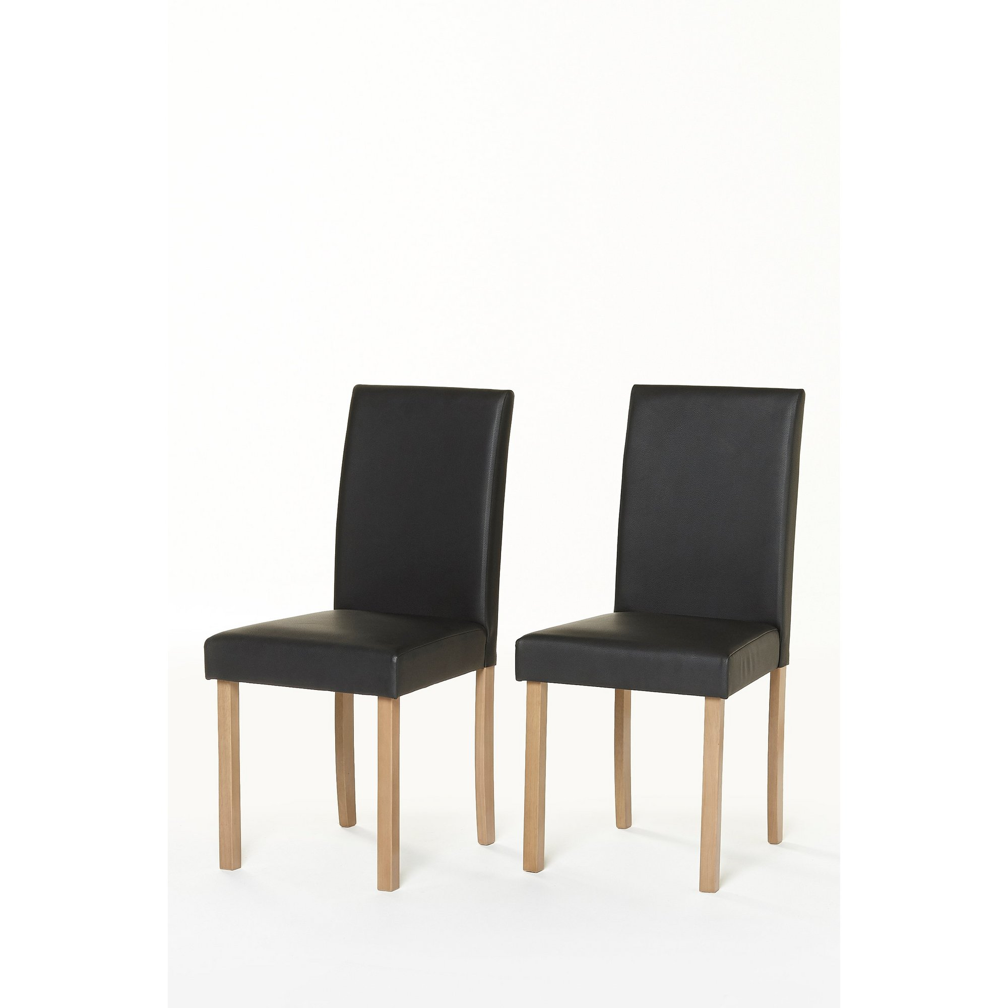 Image of Pair of Kingston Chairs - Faux Leather