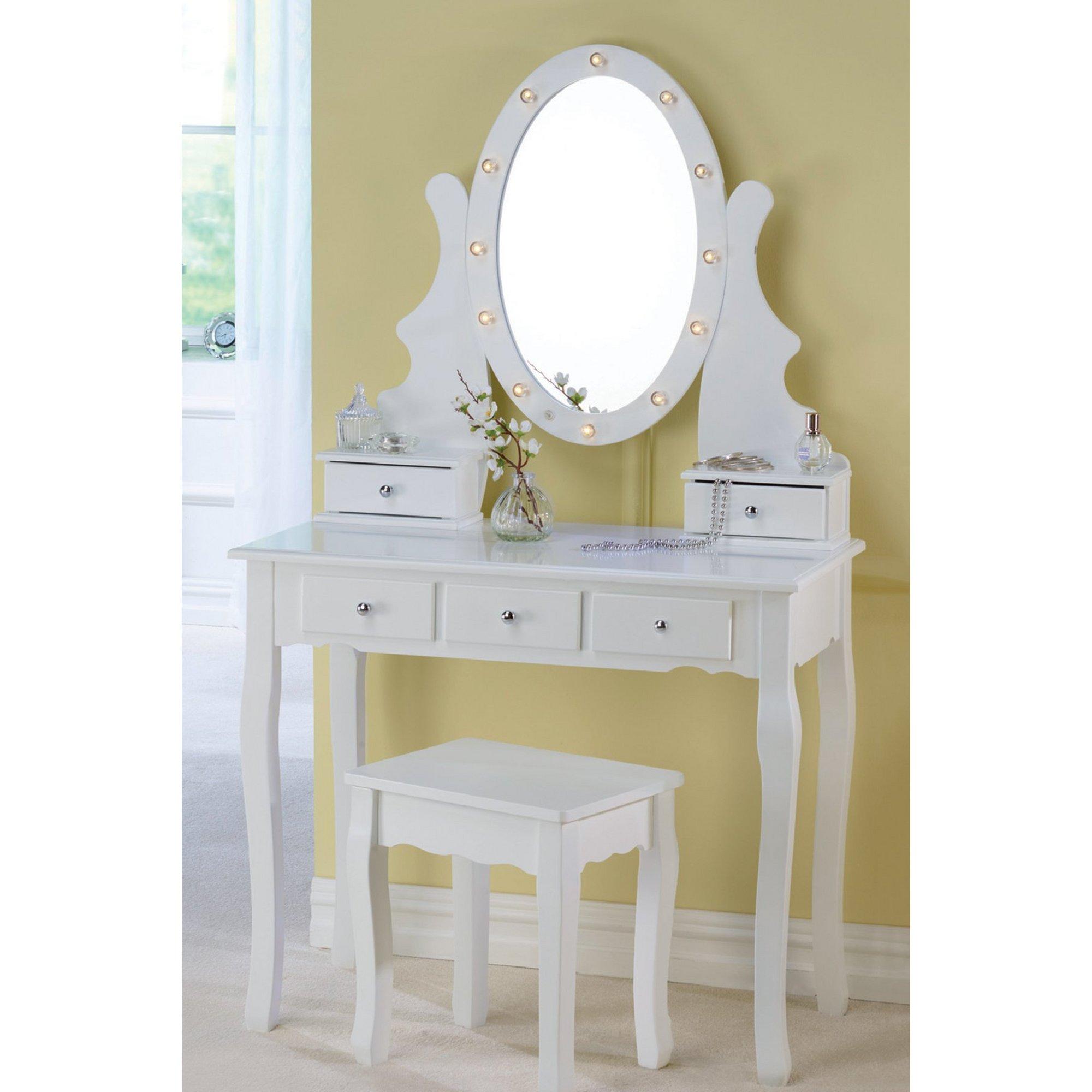 Image of Dressing Table Set with Illuminating Mirror