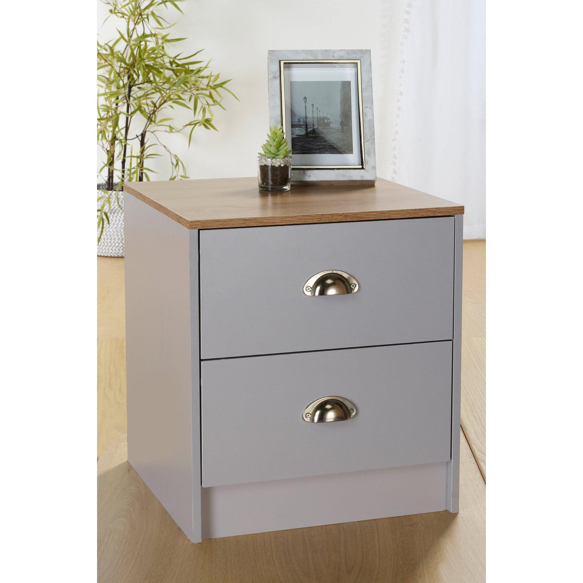 Image of Christian 2 Drawer Bedside Cabinet