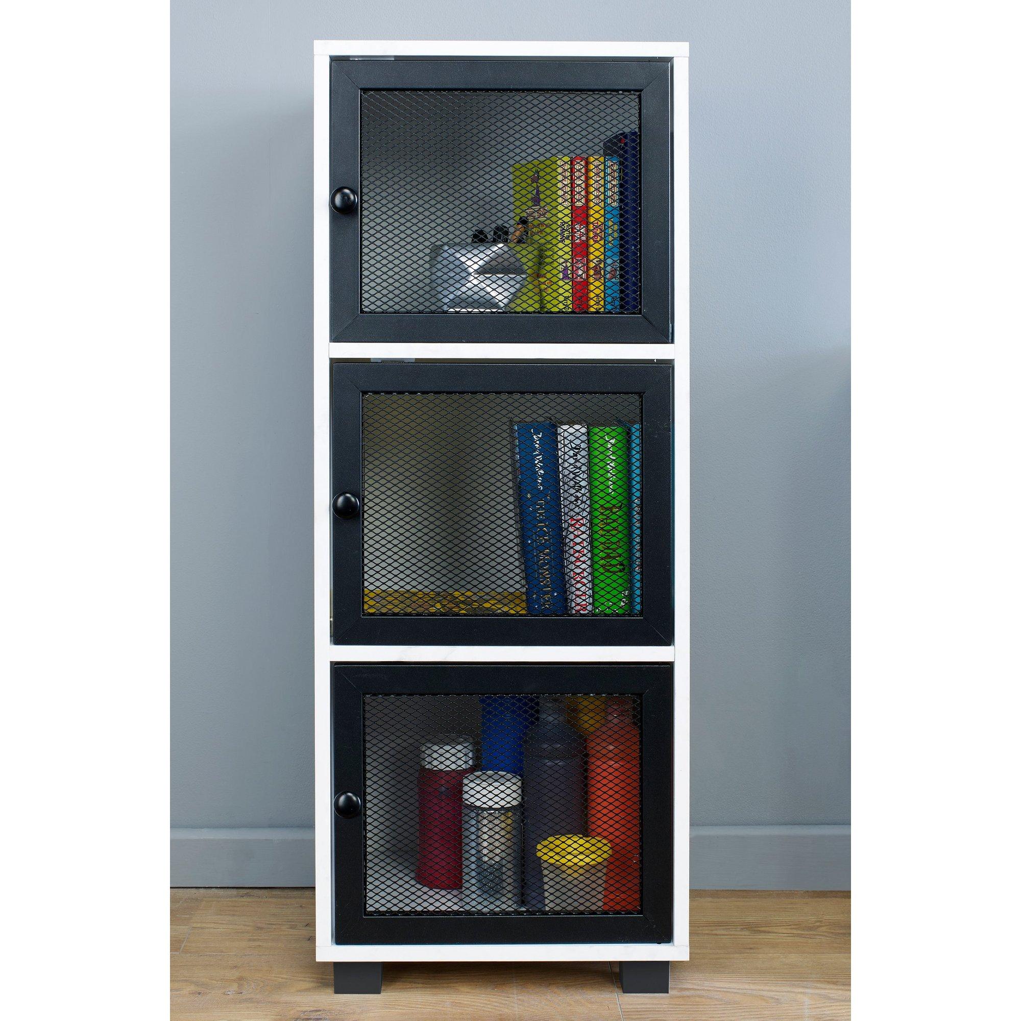 Image of 3 Door Cabinet with Mesh Doors