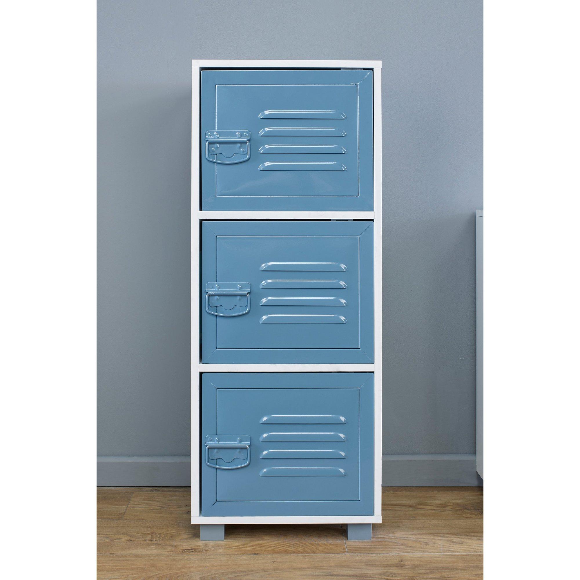 Image of 3 Door Cabinet with Metal Doors