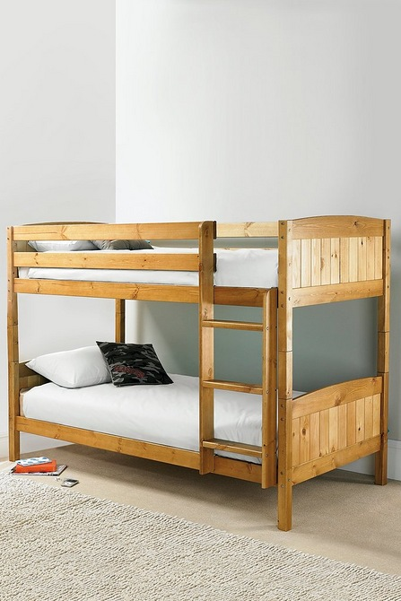Solid Pine Bunk Bed With Mattresses Studio