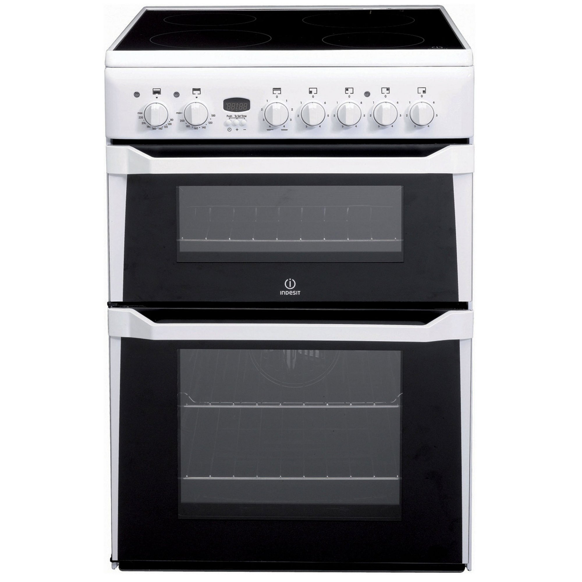 Image of Indesit 60cm Double Oven Electric Cooker