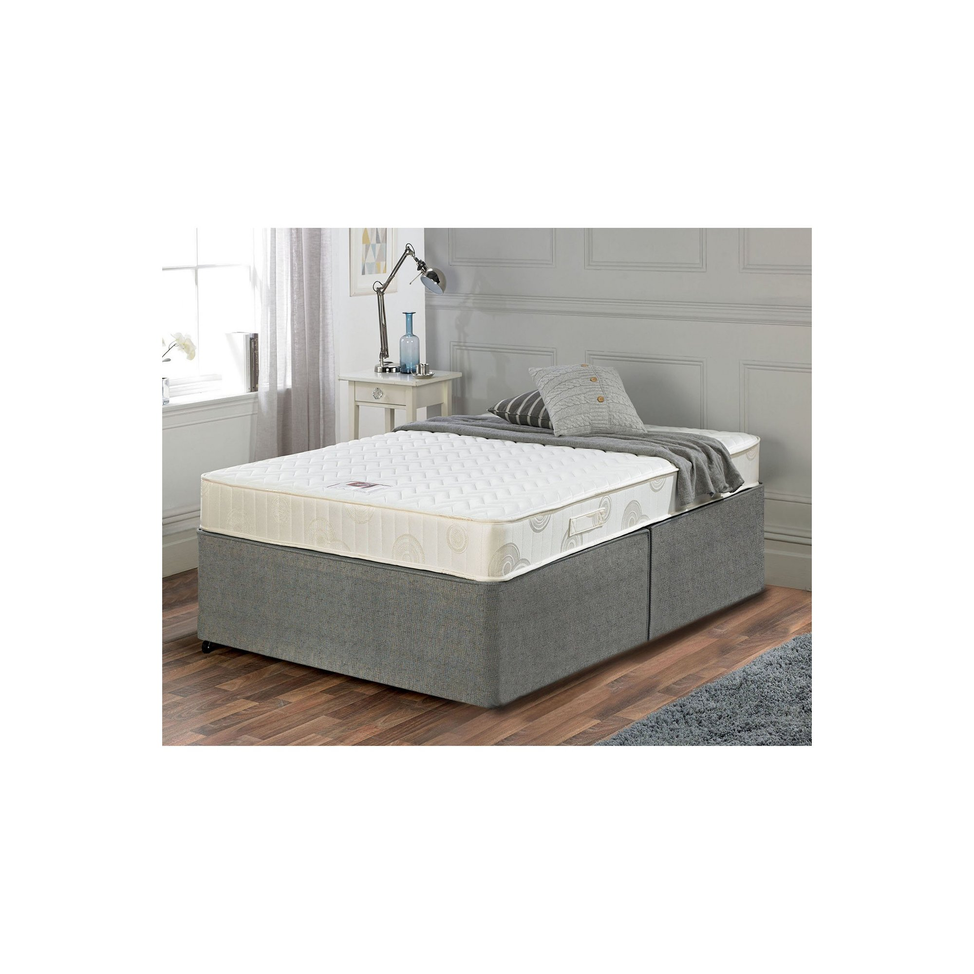 Image of Airsprung Memory Flex Divan Bed Set - No Drawers