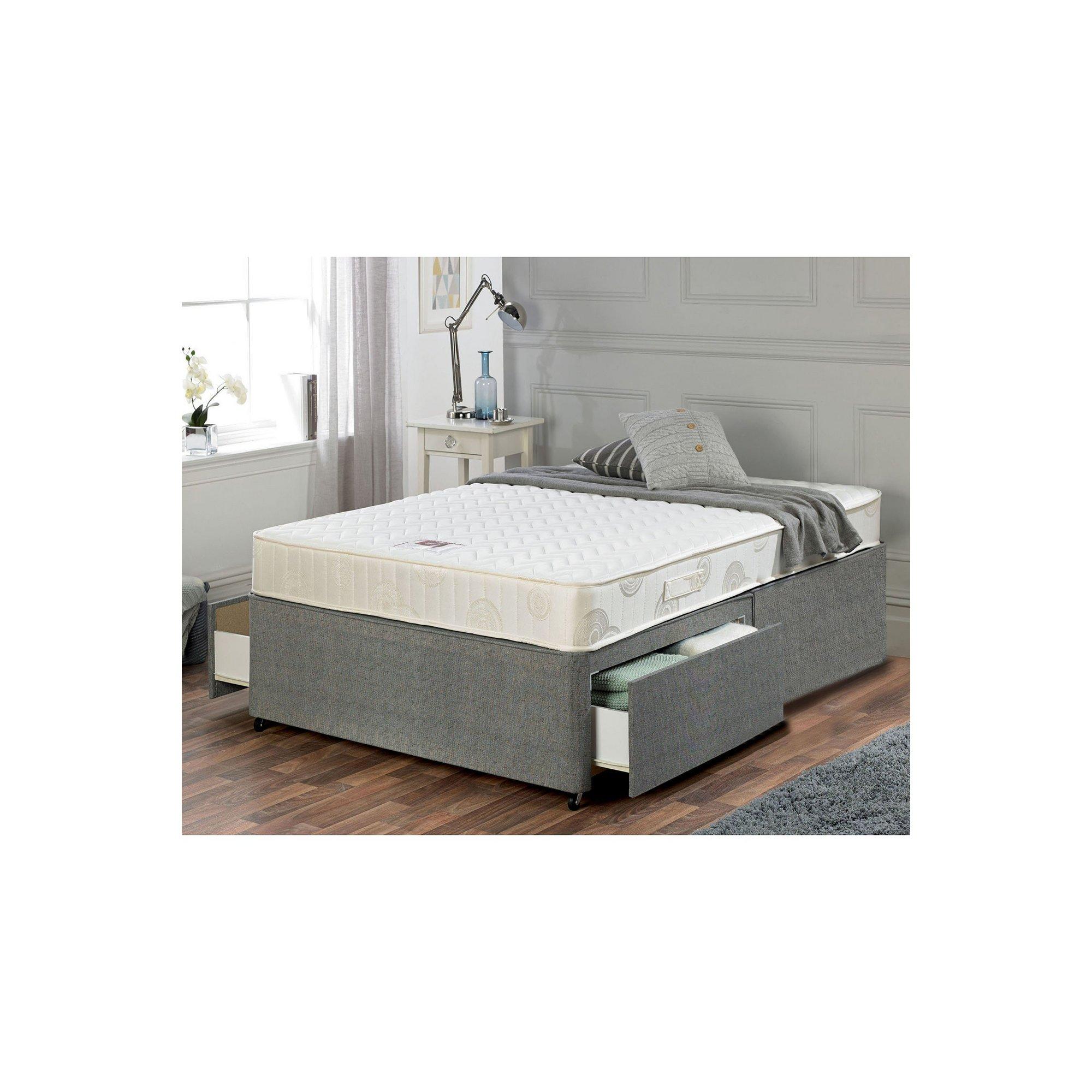 Image of Airsprung Memory Flex Divan Bed - 2 Drawer Storage