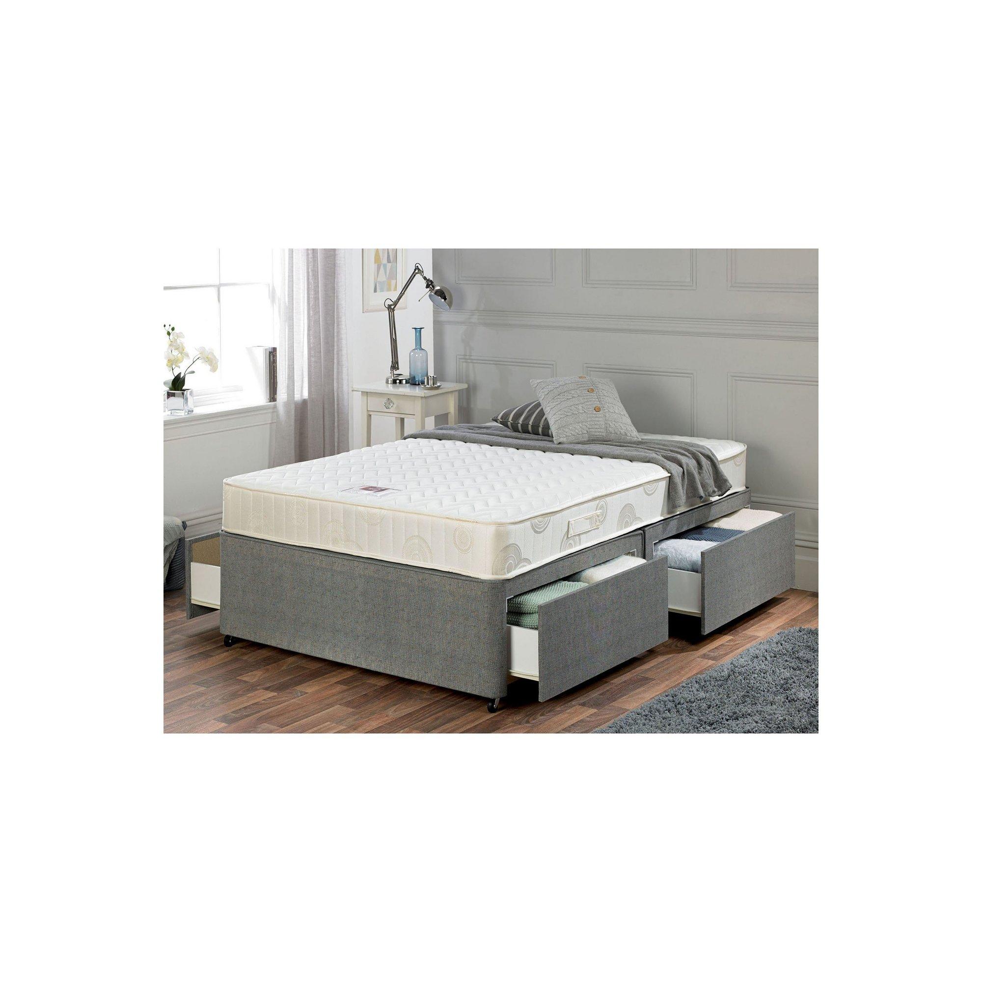 Image of Airsprung Memory Flex Divan Bed - 4 Drawer Storage