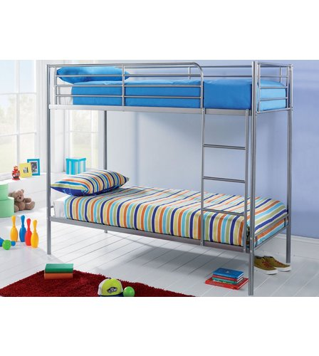 Metal Bunk Bed With Mattresses Studio