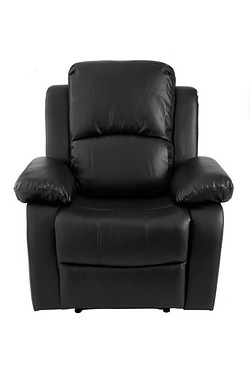 Faux Leather Recliner Armchair and Sofas