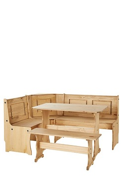Solid Pine Bench Dining Set