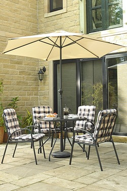 Edinburgh 6-Piece Padded Chair Patio Set
