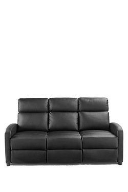 Faux Leather Recliner Sofa