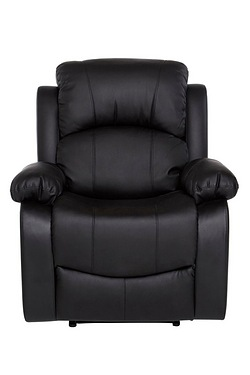 Black Faux Leather Recliner Range