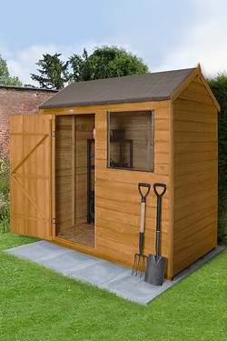 Forest Garden Wooden Overlap Dipped Treated Apex Reverse Shed