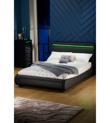 Atlanta Bed With LED Headboard   Studio