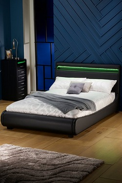 Atlanta Bed With LED Headboard