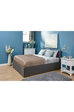 Side Lift Fabric Bed With Mattress