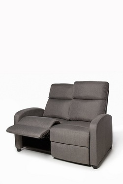 Recliner Sofa - Grey Fabric