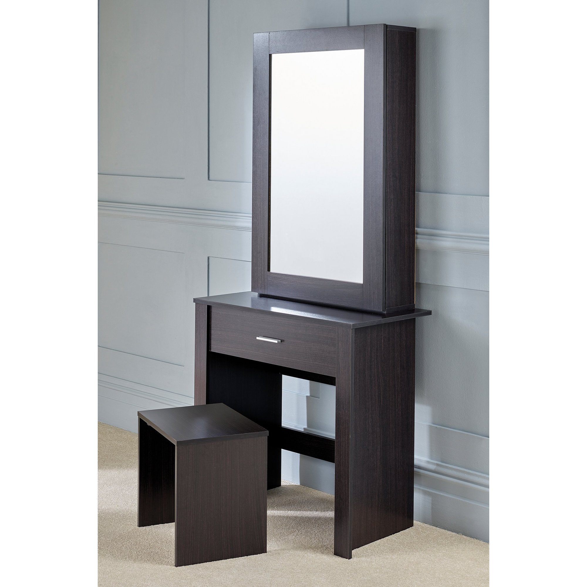 Image of Hobson Mirrored Unit and Stool