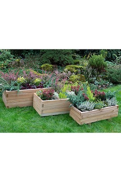 Durham Rectangular Planter Set Of 3