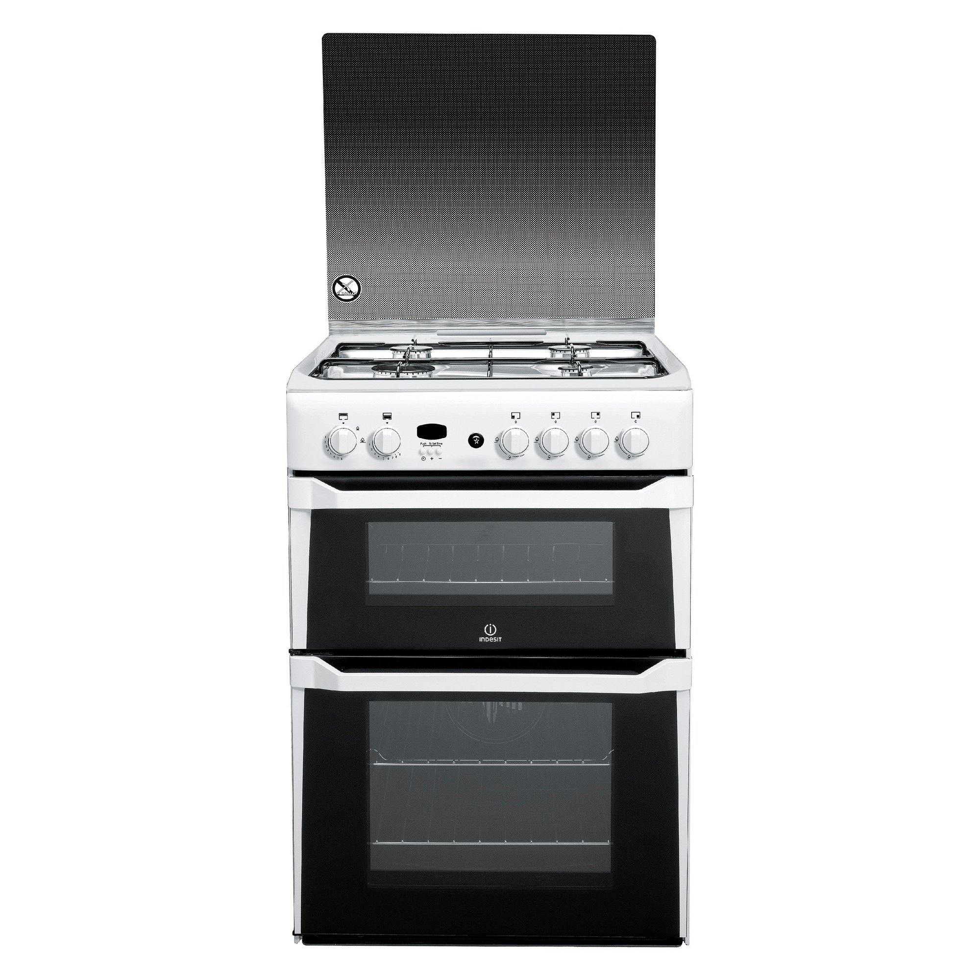 Image of Indesit 60cm Double Oven Gas Cooker