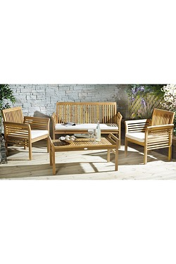 Cayman Wooden 4-Piece Lounge Set