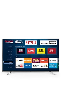 "Sharp 55"" Ultra HD Smart Freeview HD LED TV"