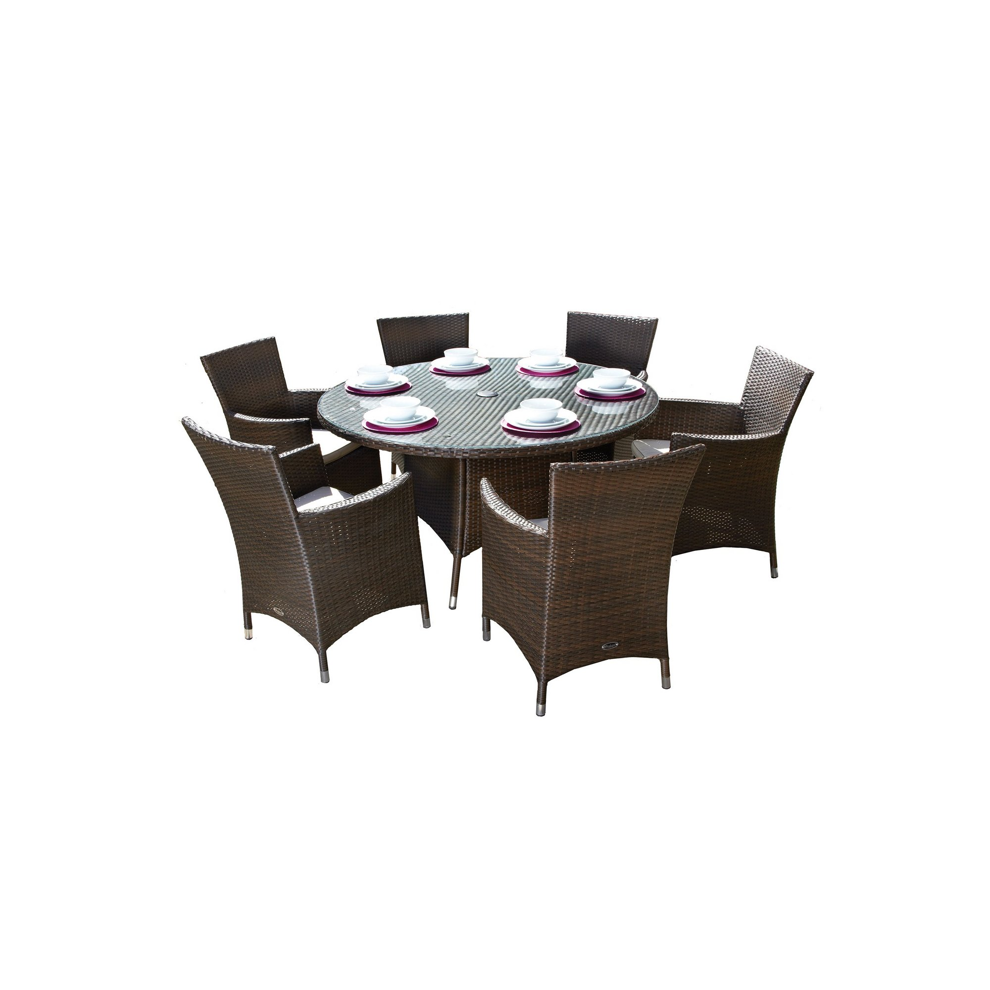 Image of Cannes 6 Seater Round Dining Set