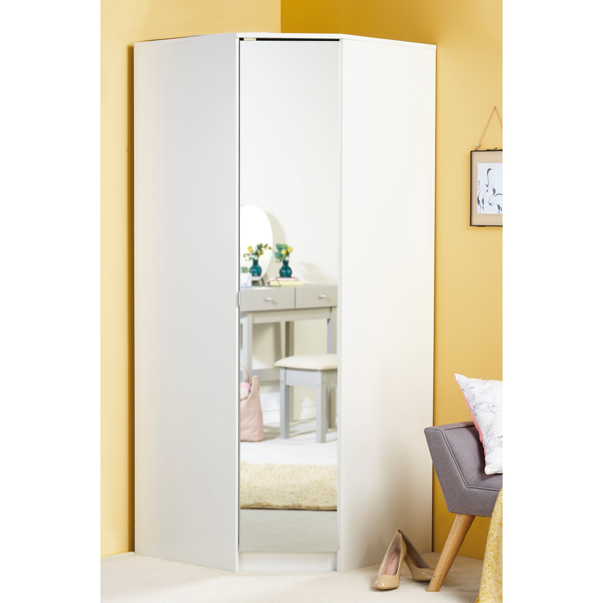 Image of Corner Wardrobe with Mirror