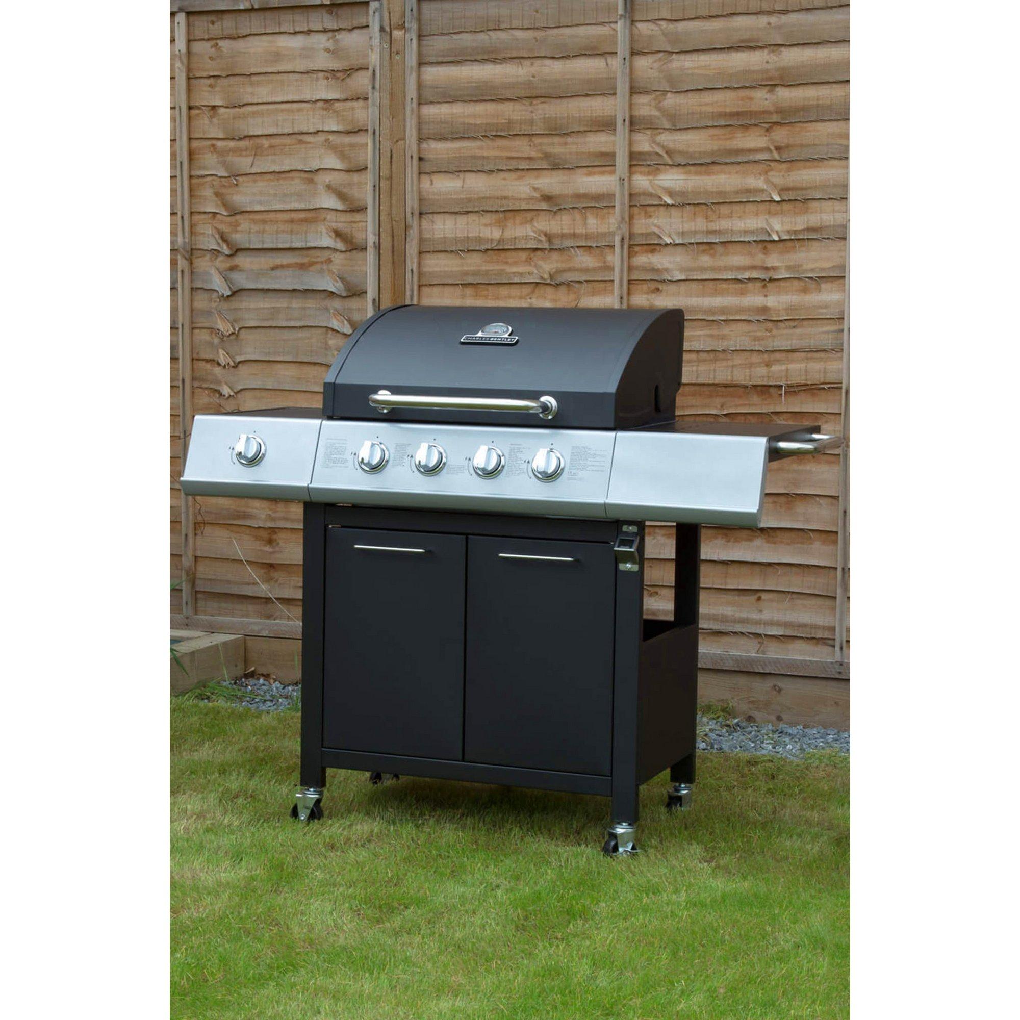 Image of 5 Burner Premium Gas BBQ - 4x Burner + 1 Side Burner