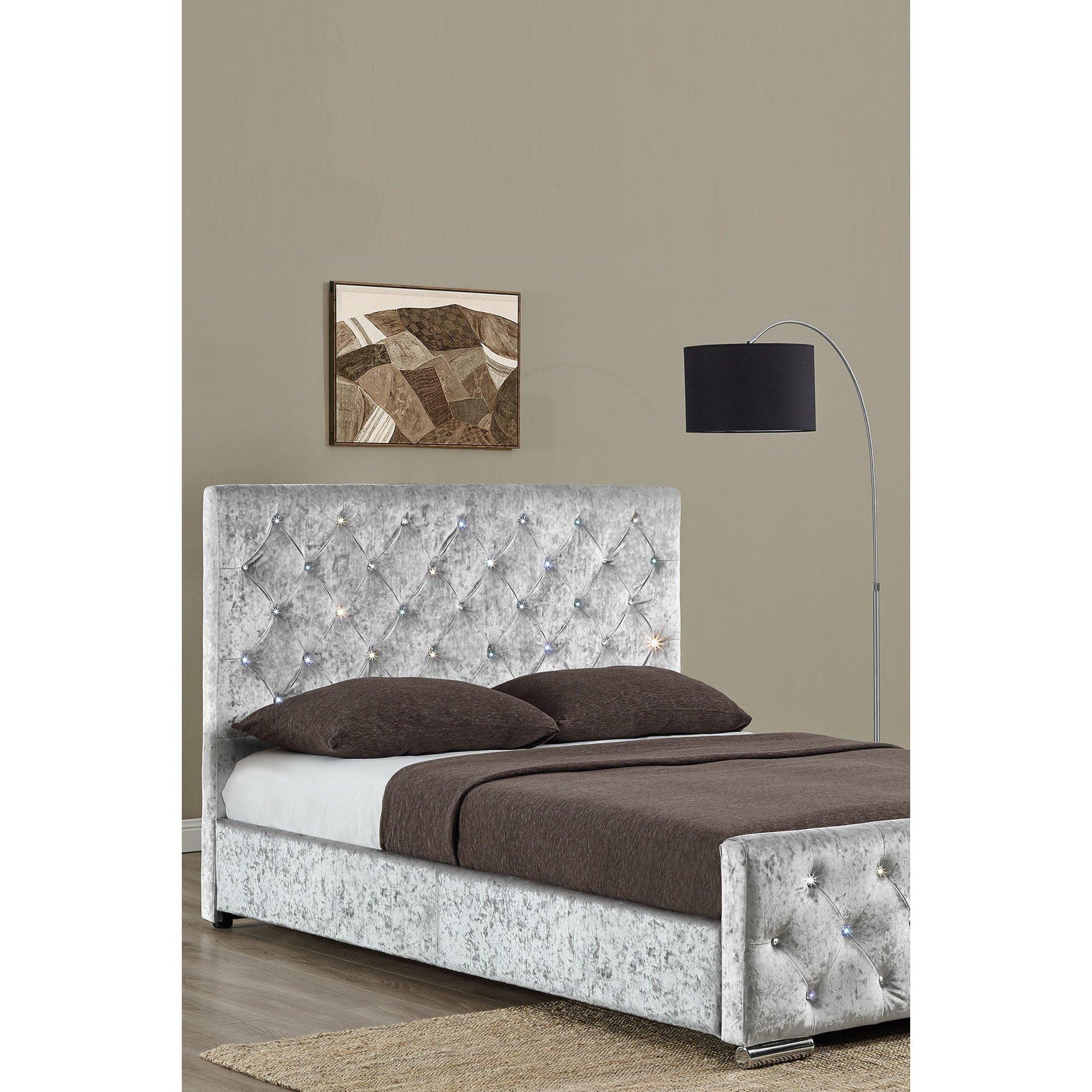 Image of Arabella Crushed Velvet Bed Frame