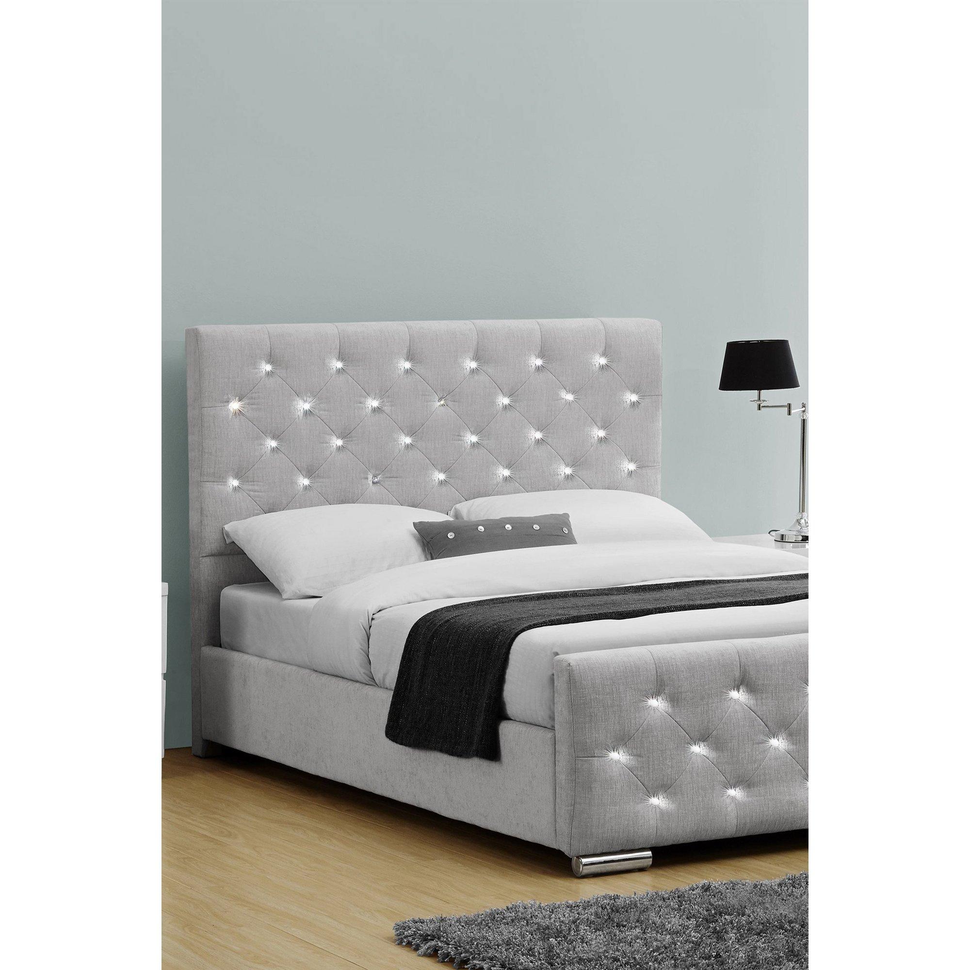 Image of Arabella Grey Linen Bed Frame