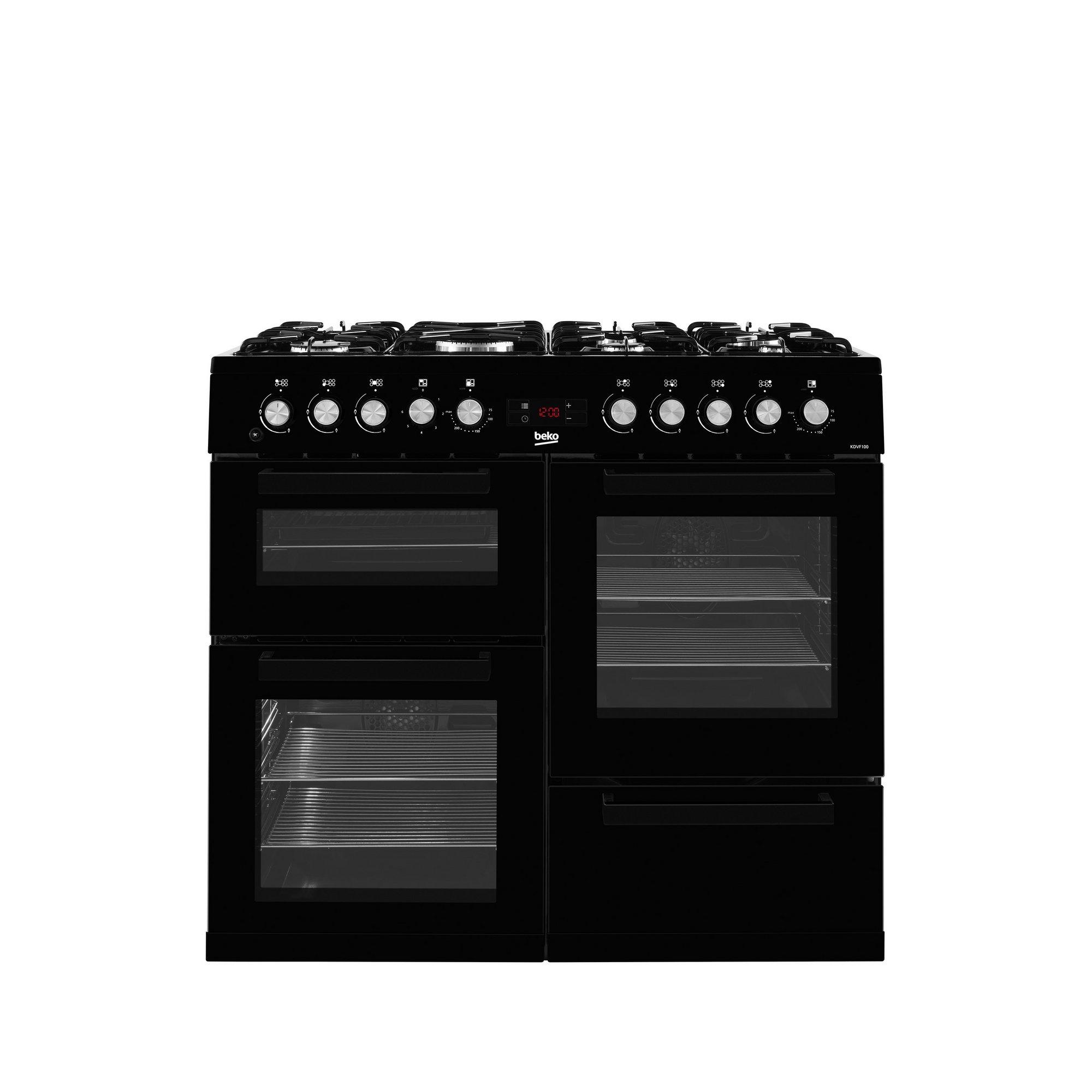 Image of Beko 100cm Dual Fuel Double Oven Range Cooker