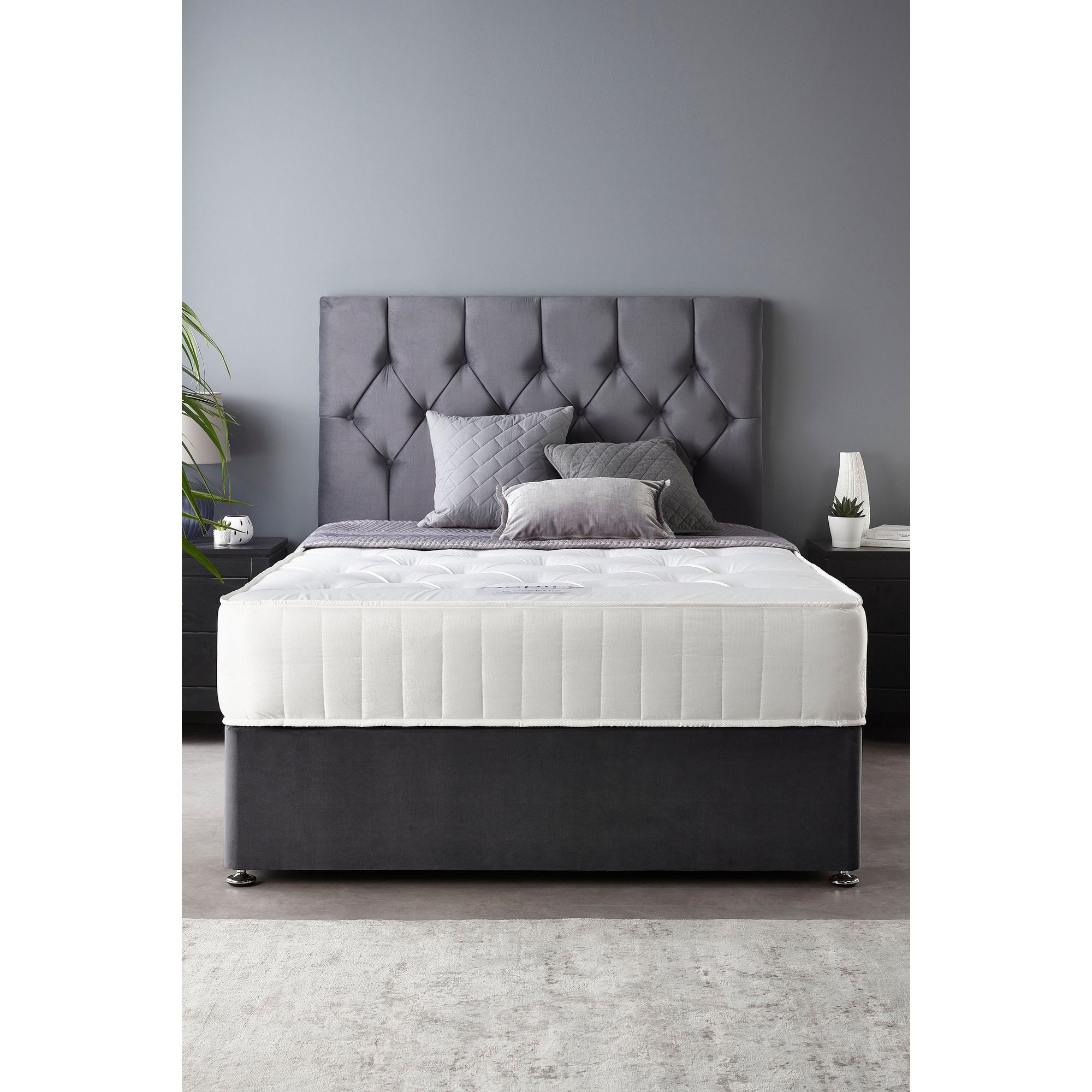 Image of Catherine Lansfield Boutique Ortho Pocket No Storage Divan Bed