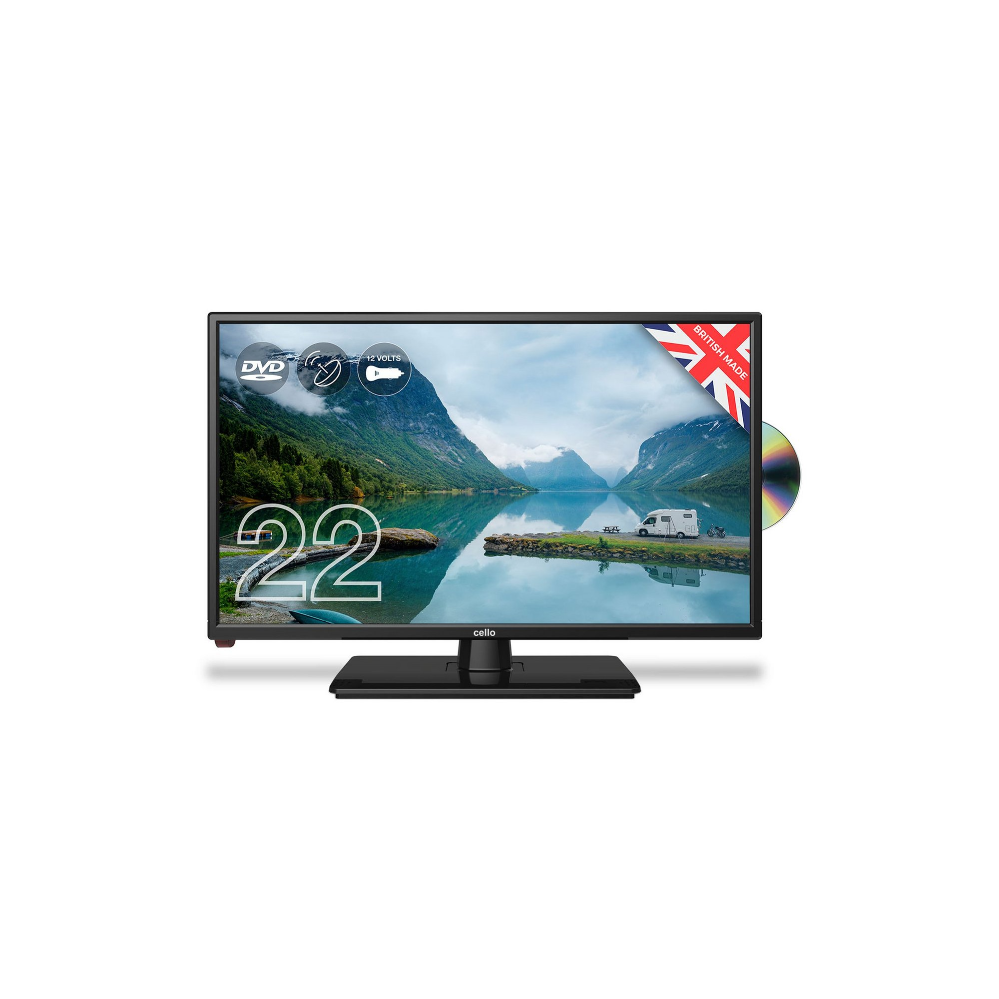 Image of Cello 22 Inch C2220FMTR Full HD 12v Traveller TV with DVD Player