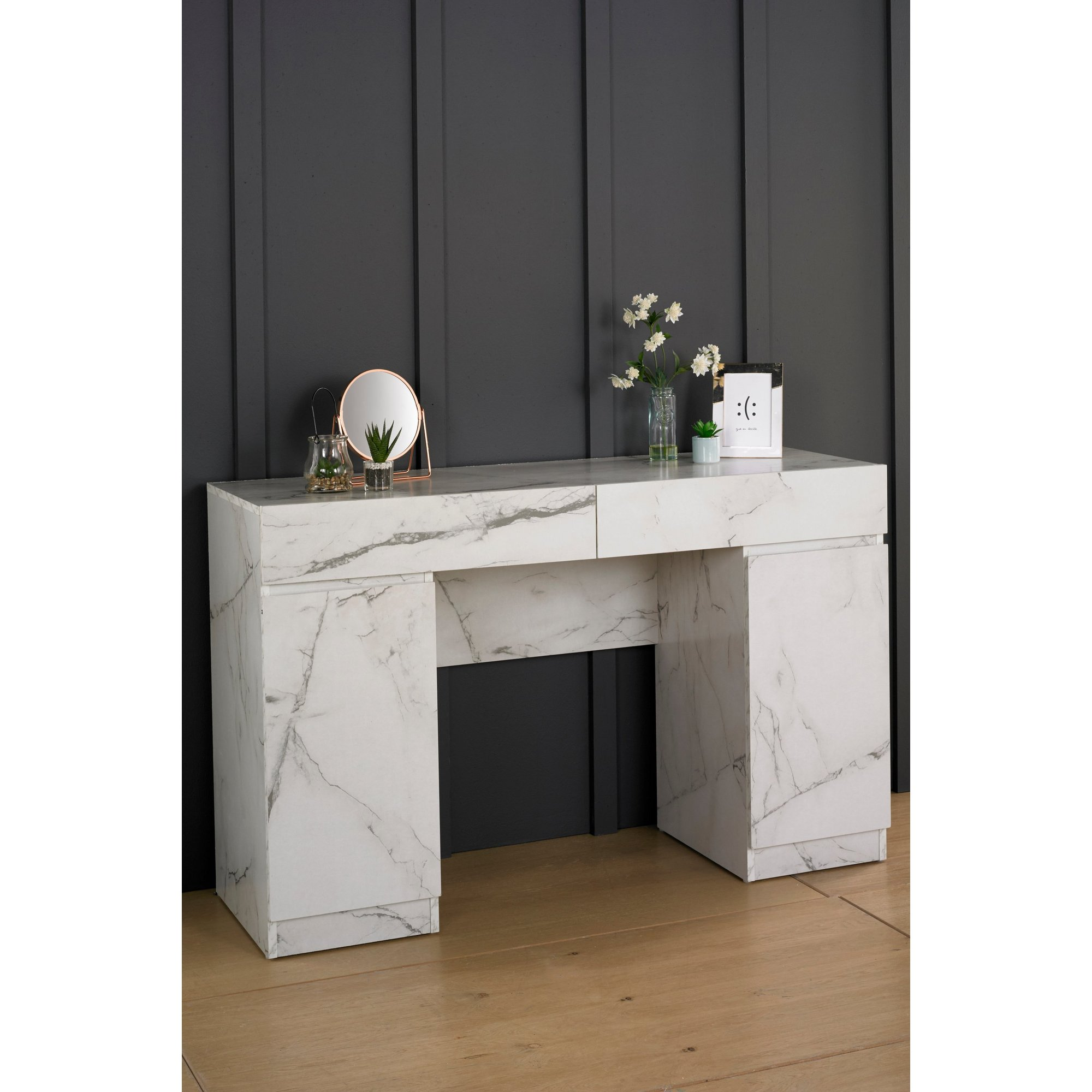 Image of Helena Marble-Effect Dressing Table