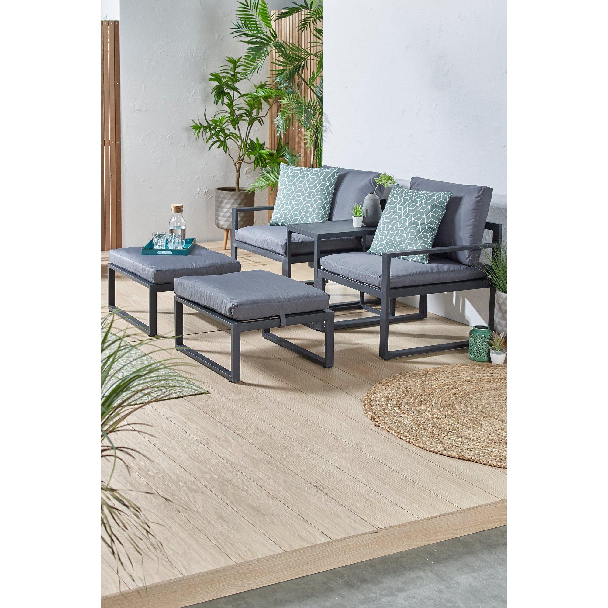 Image of Bahama Multi-Position Garden Lounge Sofa Set