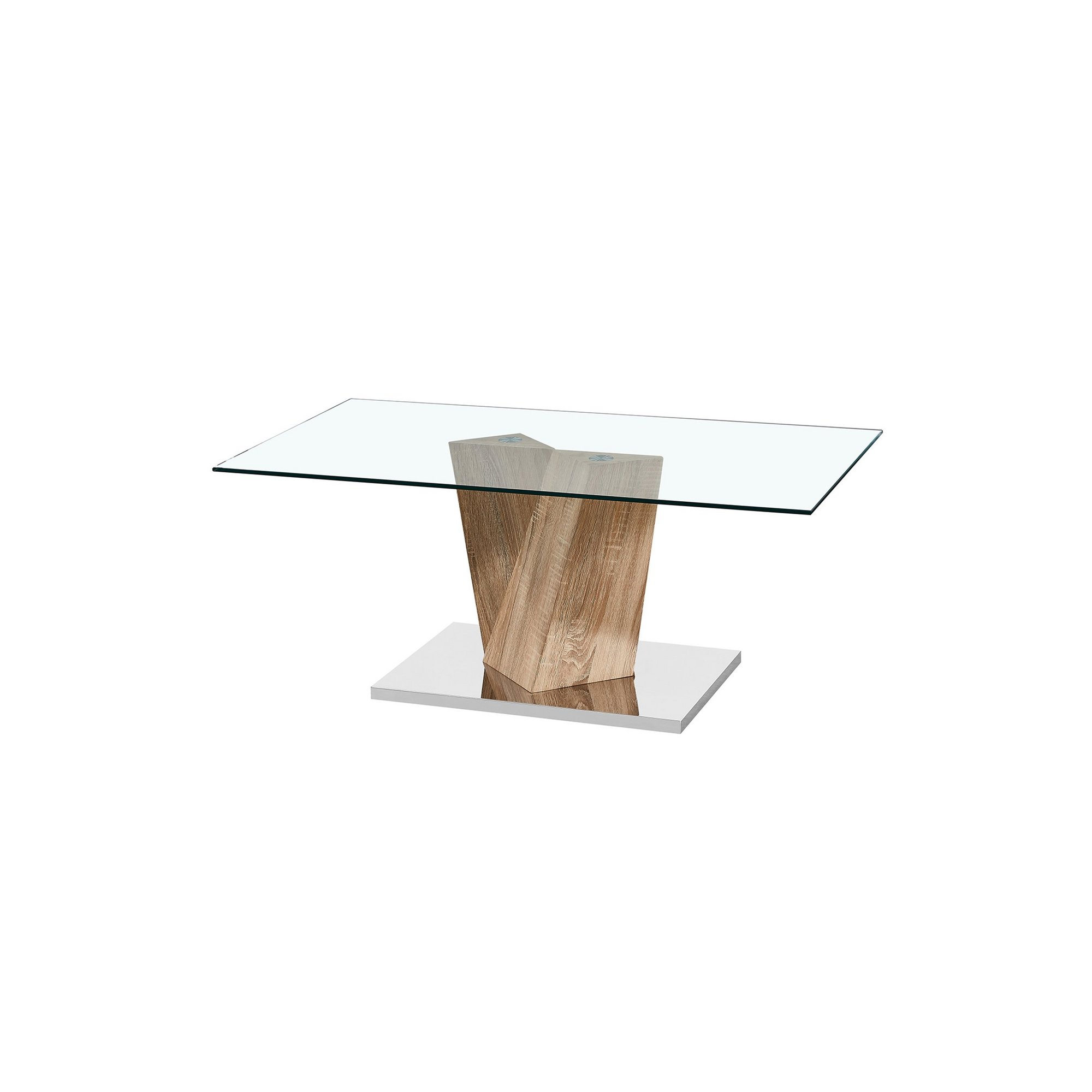 Image of Alpha Coffee Table with Oak Effect Base