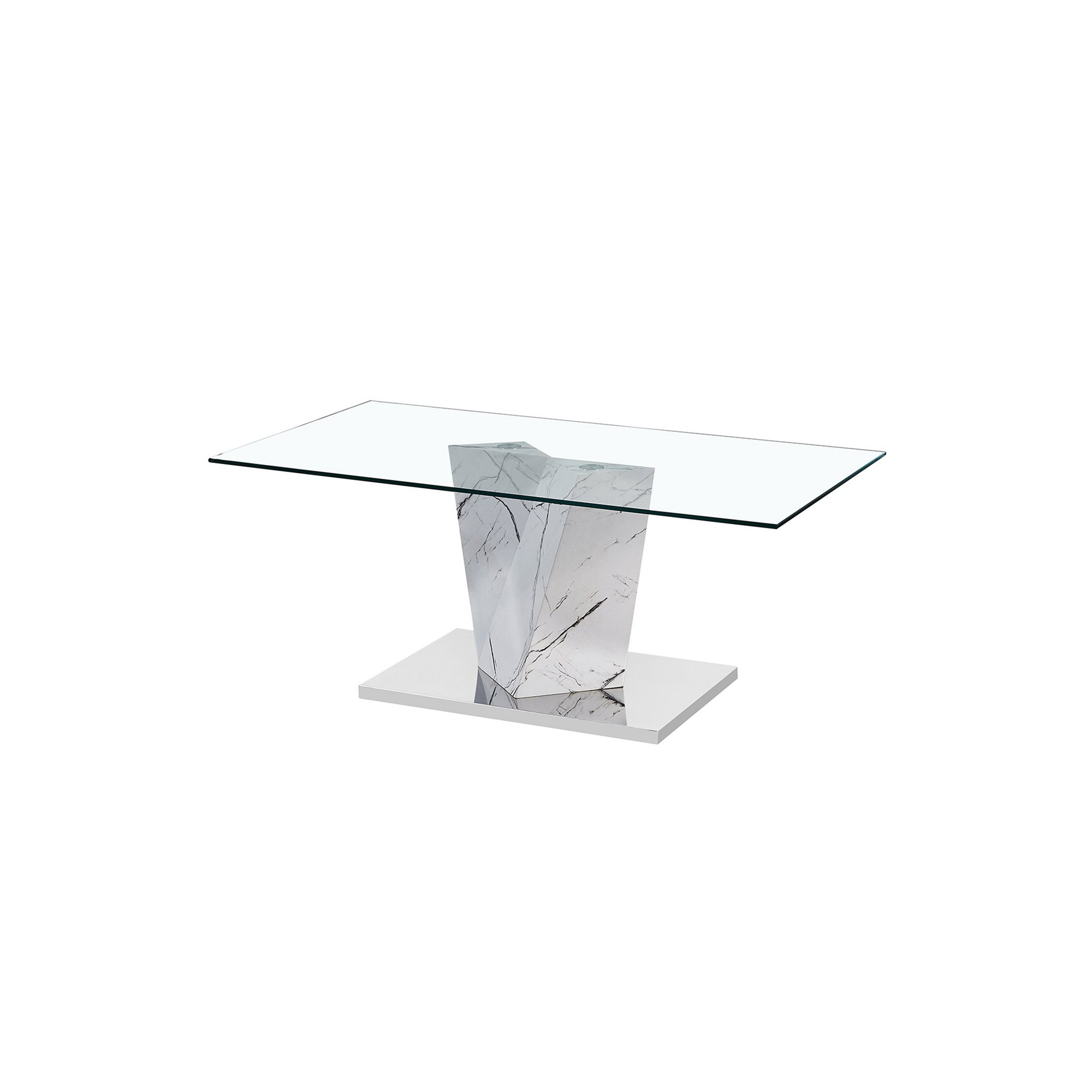 Image of Alpha Coffee Table with White Marble Effect Base