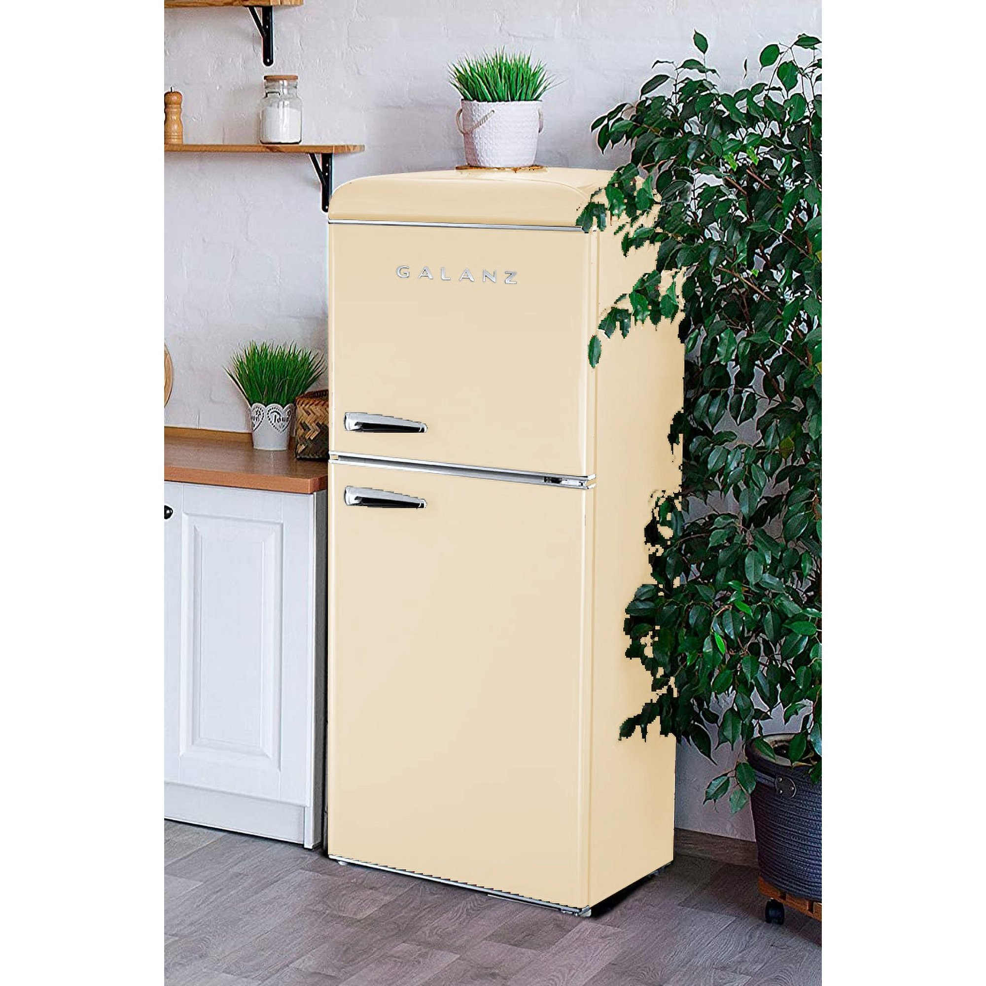 Image of Galanz 215L Retro Fridge Freezer